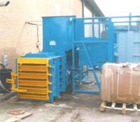 Blue Horizontal Baler