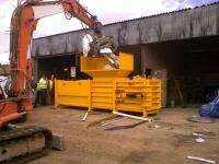 Yellow Horizontal Baler