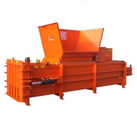 New orange horizontal baler