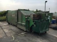 Portable Compactor with bin-lifter