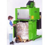 Rotary waste compactor